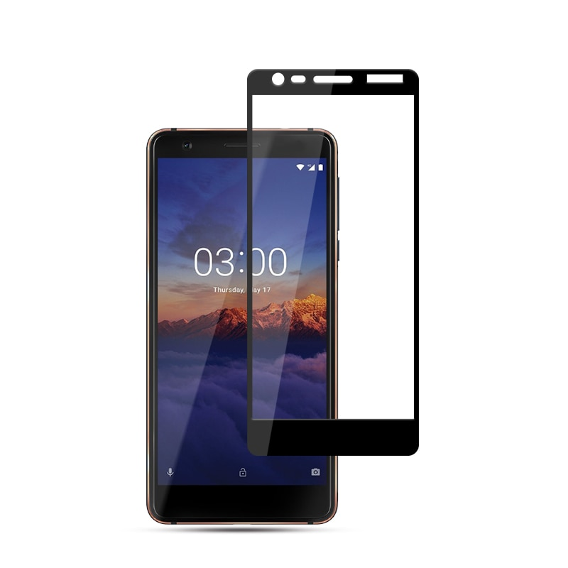 Mocolo Nokia 3.1 2018 Edge to Edge Tempered Glass - Black