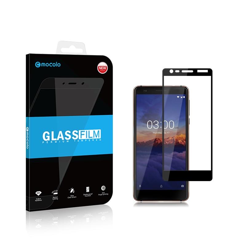 Mocolo Nokia 3.1 2018 Edge to Edge Tempered Glass - Black