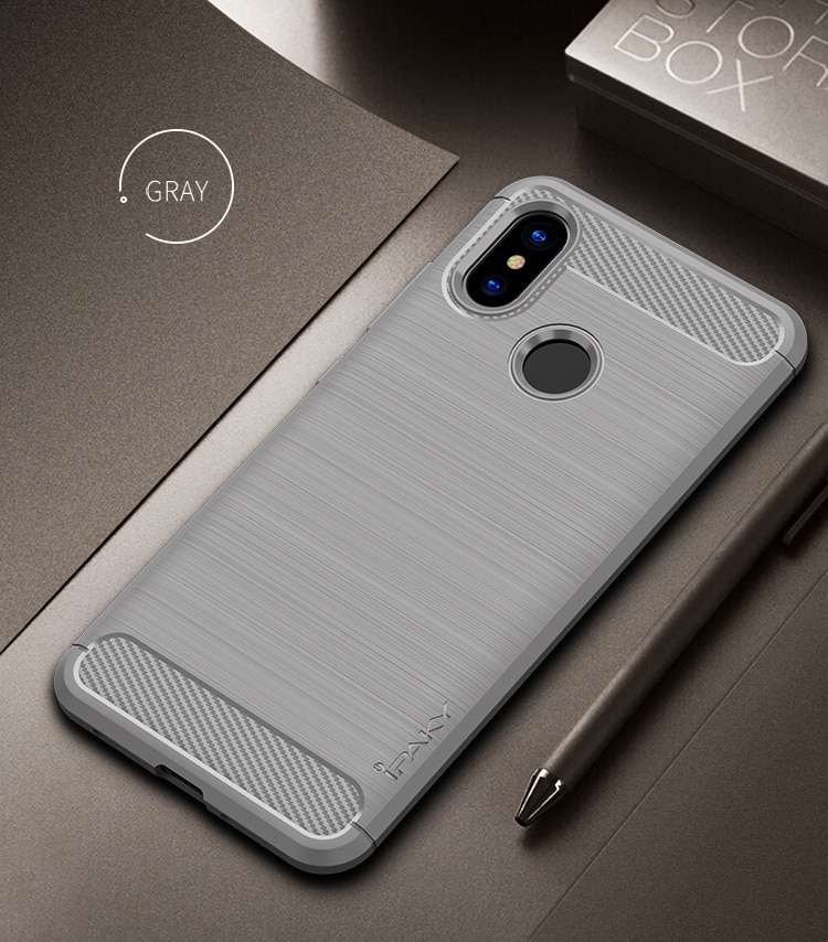 Mi 8 Concise Series / Slim Anti-fingerprint TPU Case by iPaky - Black