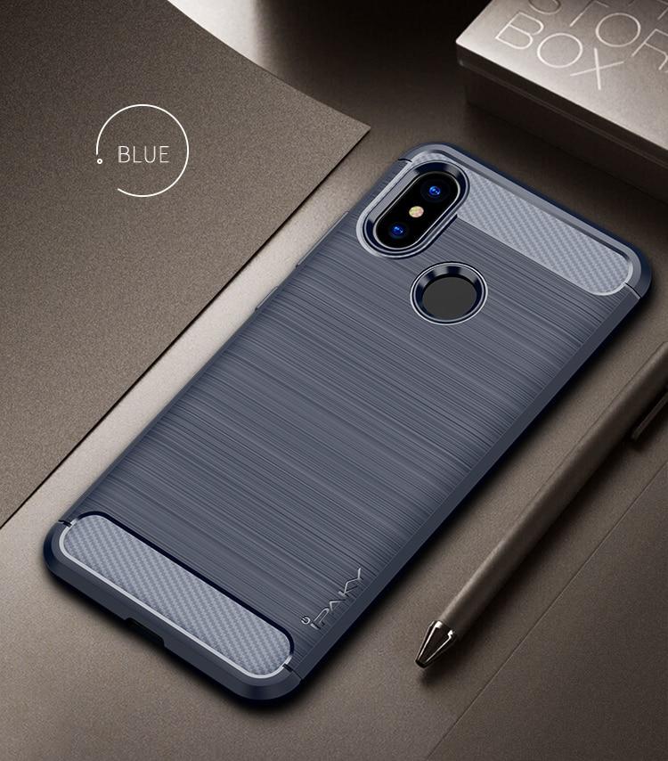 Mi A2 / Mi 6X  Concise Series / Slim Anti-fingerprint TPU Case by iPaky - Blue