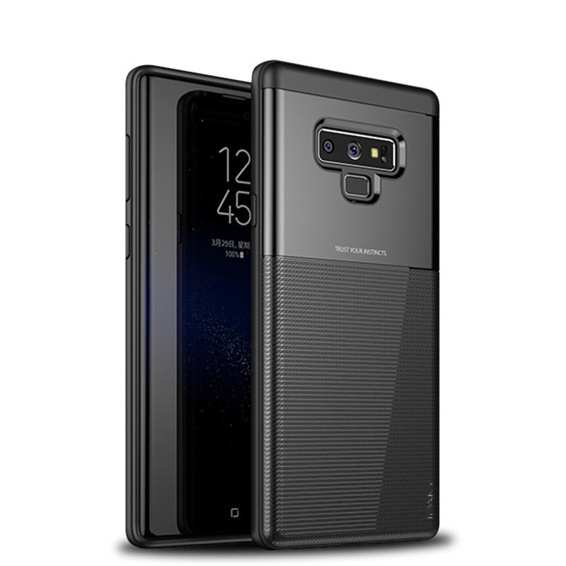 Samsung Galaxy Note 9 Shield Series/ Elegant Grid Design TPU Hybrid Case by iPaky - Black