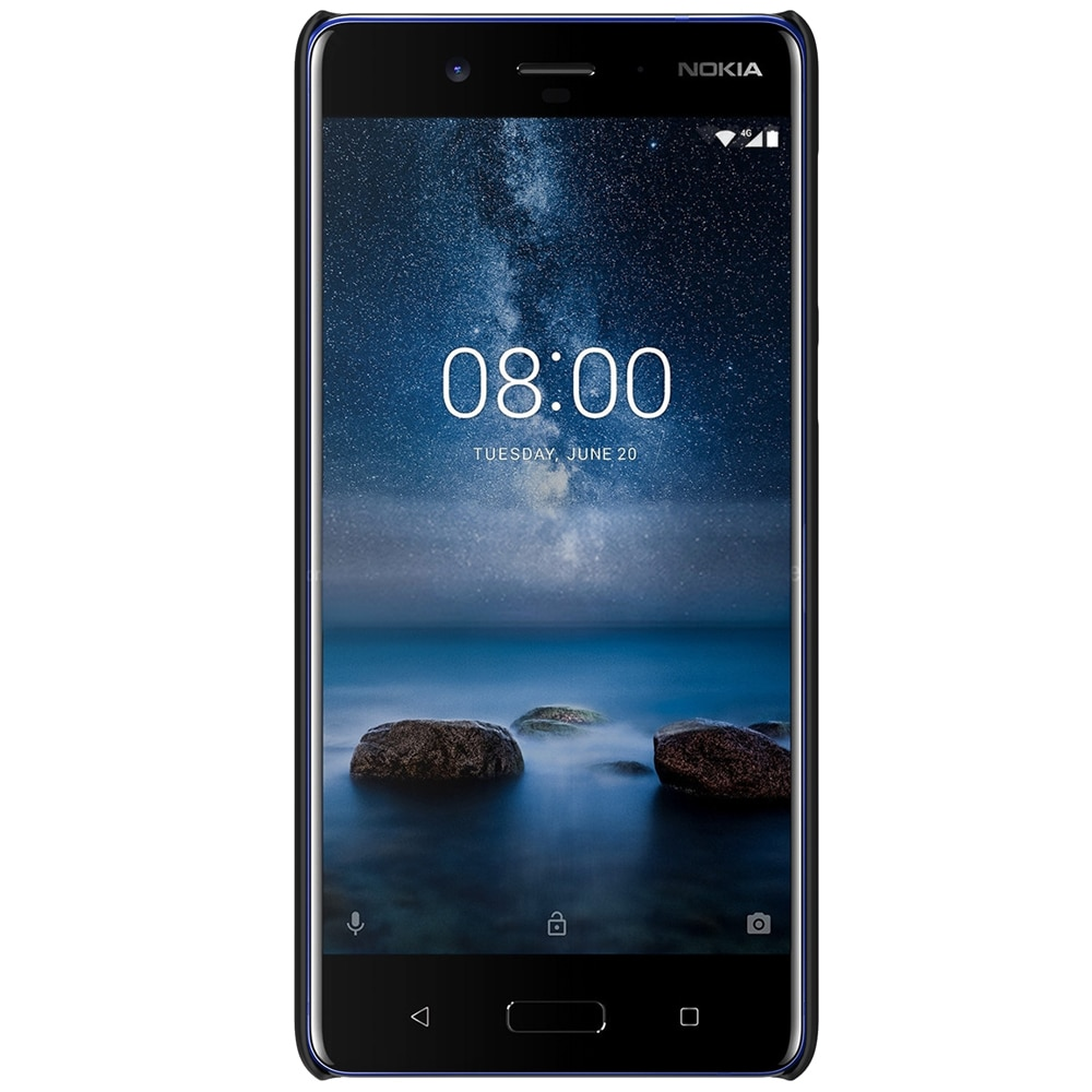 Nokia 8 Frosted Shield Back Cover by Nillkin - Black