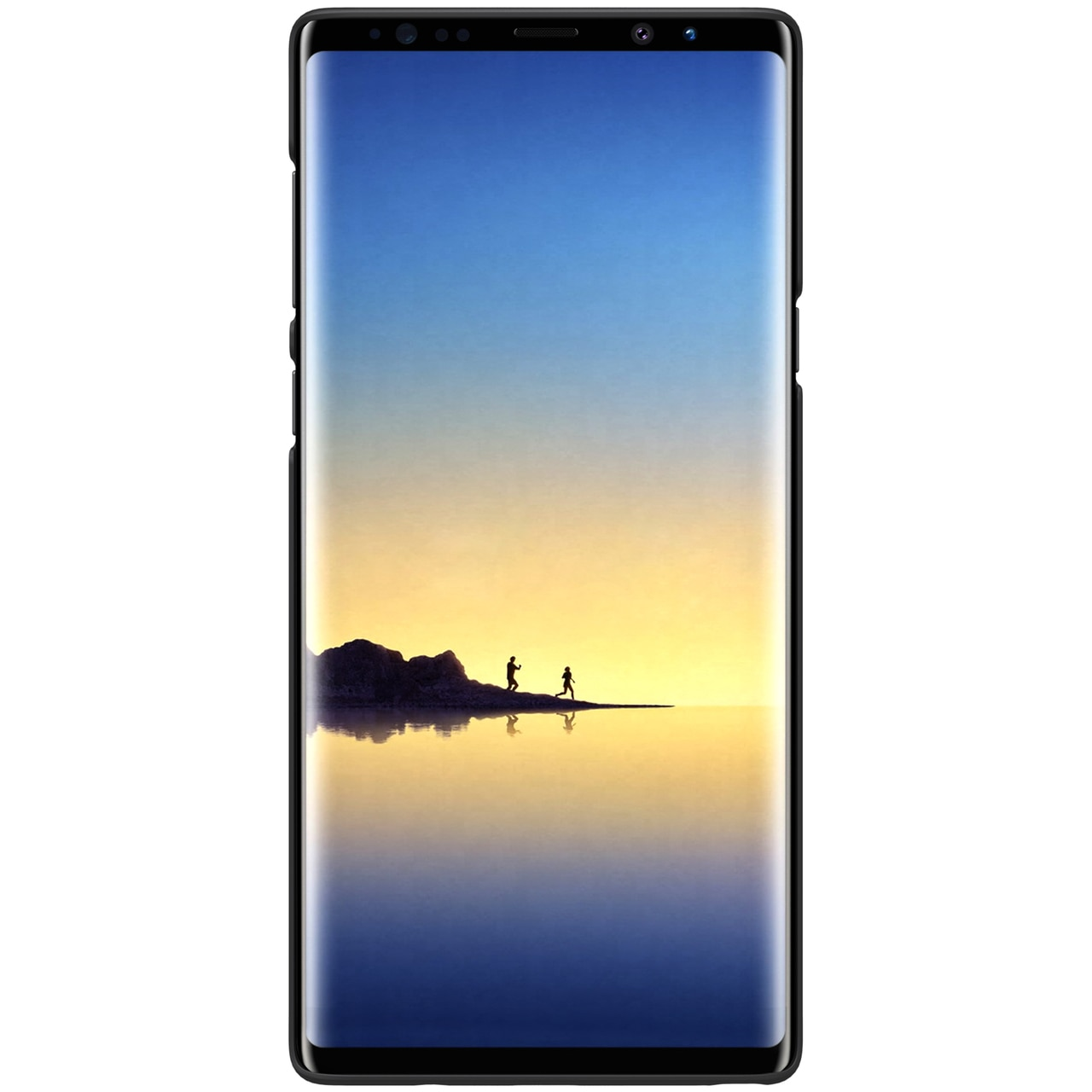 Samsung Note 9 Frosted Shield Back Cover (with FREE Screen Protector) by Nillkin - Black