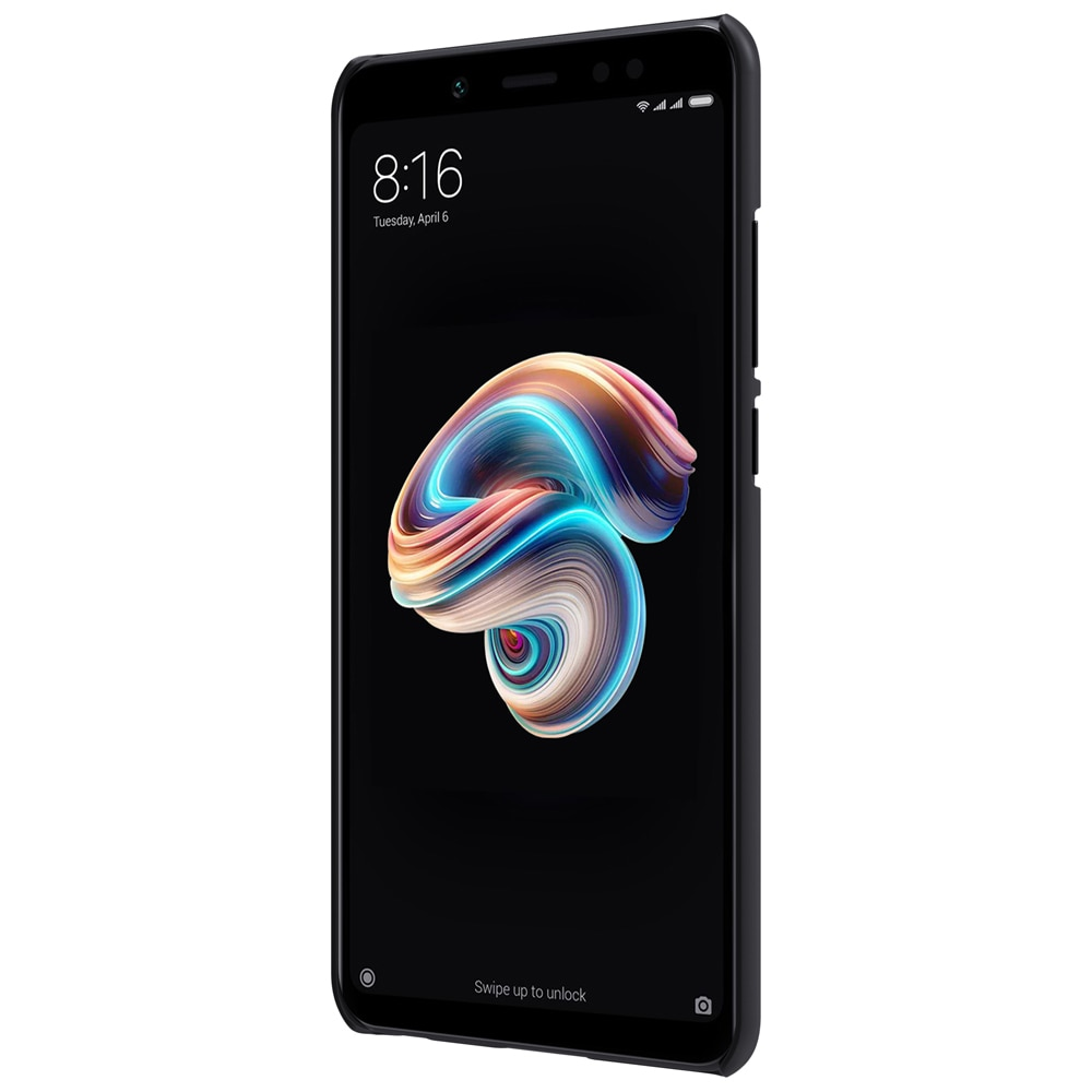 Redmi Note 5 / Note 5 PRO Frosted Shield Hard Back Cover by Nillkin - Black