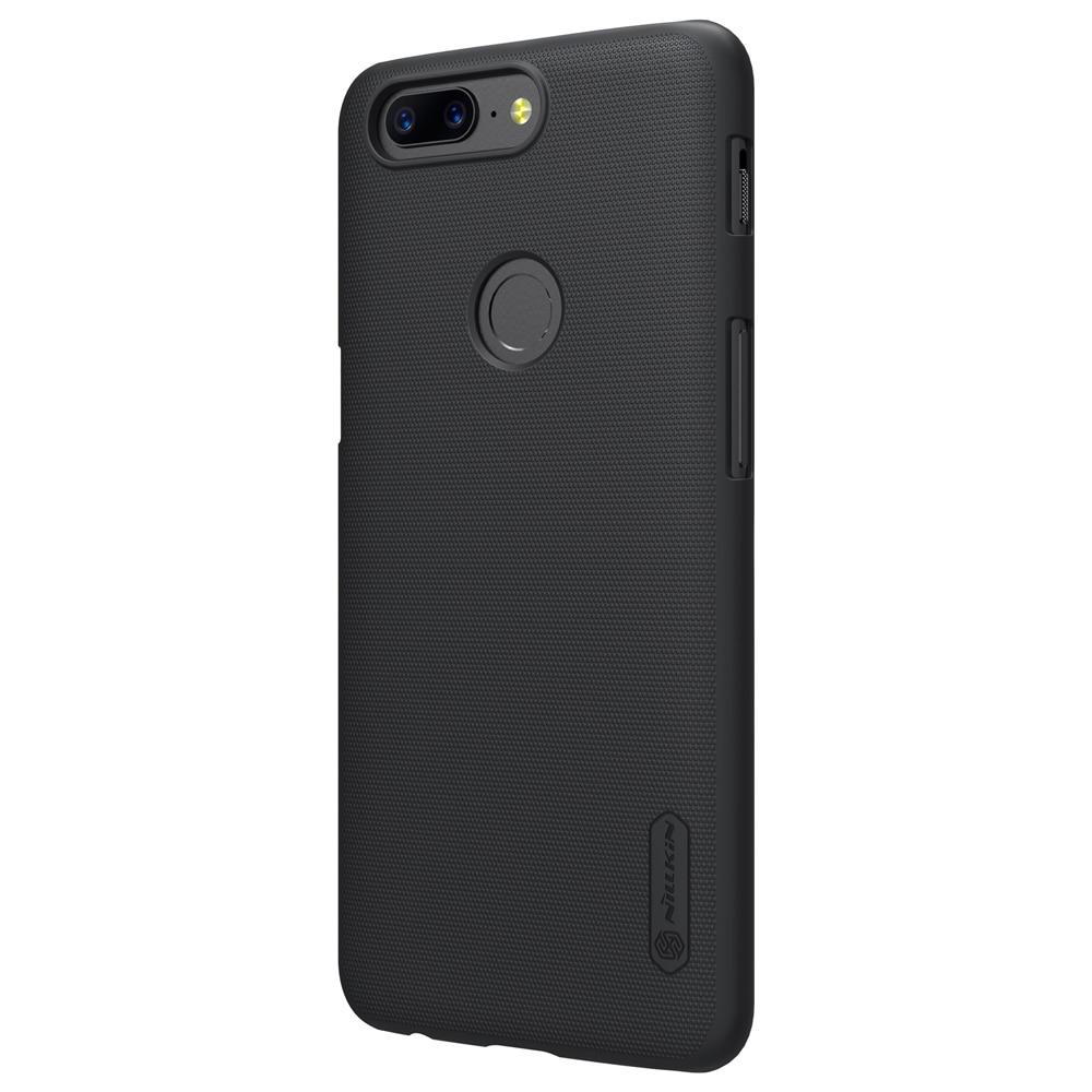 OnePlus 5T Frosted Shield Hard Back by Nillkin - Black