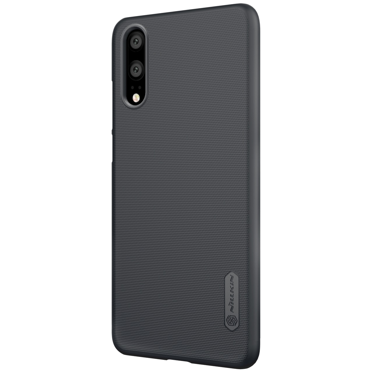 Huawei P20 Frosted Shield Hard Back Cover by Nillkin - Black