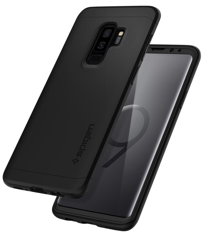 Samsung Galaxy S9 Plus Spigen Original Thin Fit 360 Case with Glass Protector - Black