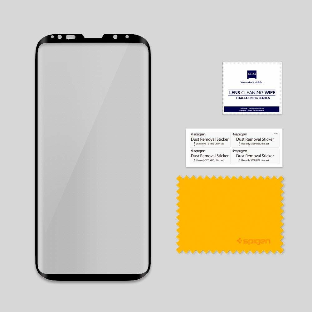 Galaxy S9 Plus Spigen GLASTr Curved Slim Case Friendly Curved Tempered Glass