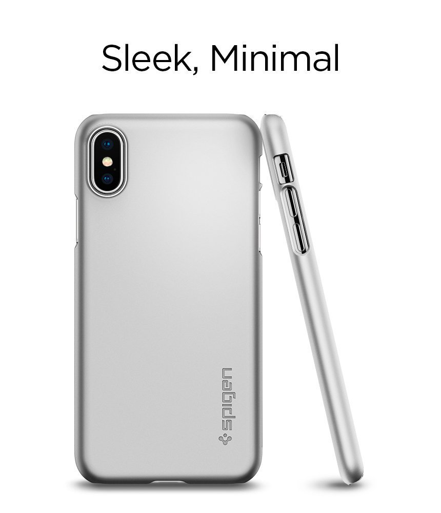 Apple iPhone X Spigen Original Thin Fit - Satin Silver