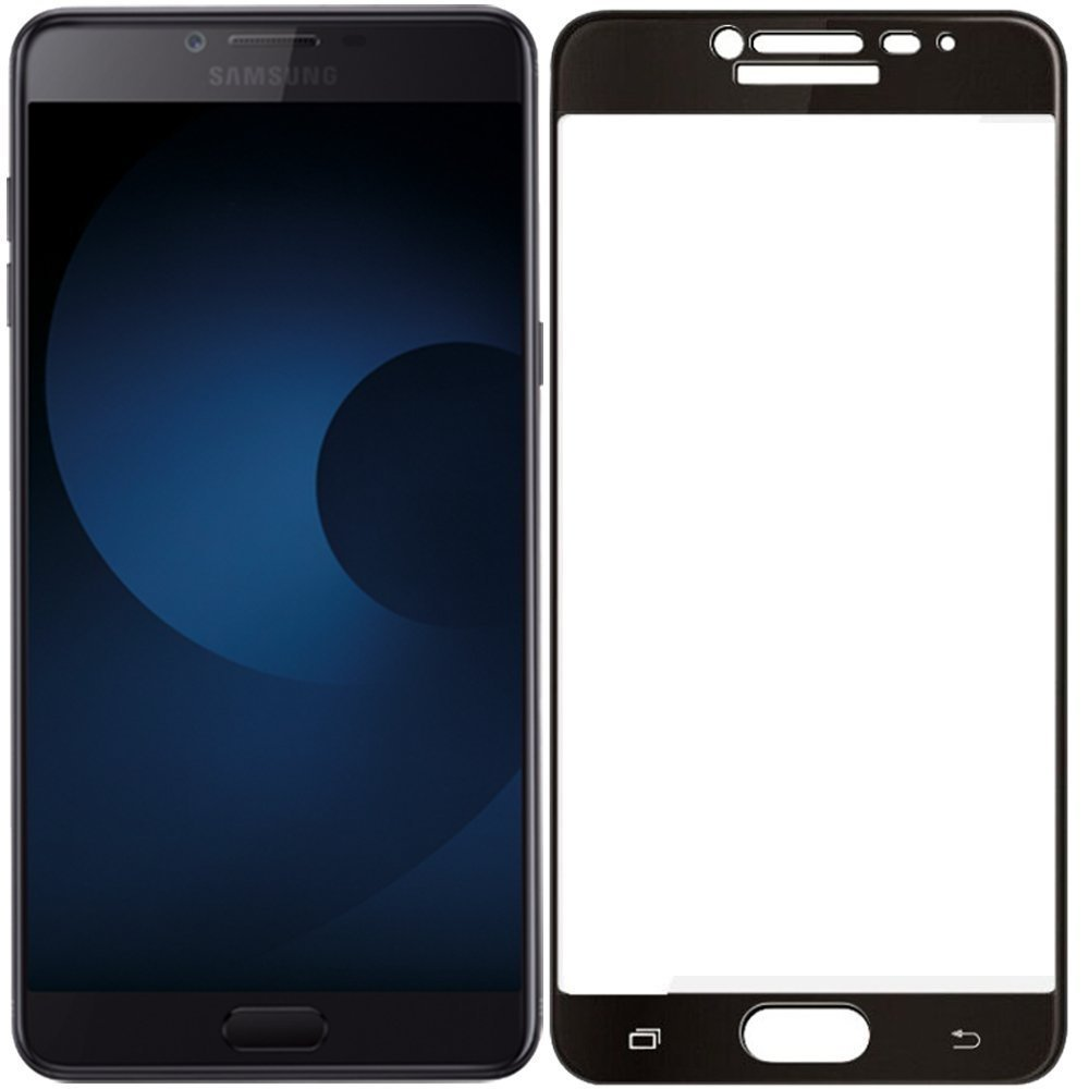 Mocolo Samsung Galaxy C9 Pro Edge to Edge Tempered Glass - Black