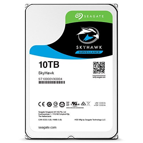 SEAGATE 10TB SURVEILLANCE HARD DRIVE 7200 RPM 256 MB CACHE (ST10000VX0004)