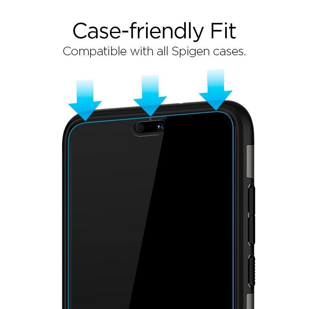 Huawei P20 Pro Spigen 3D Glass Slim Full Coverage Glass Protector - Black