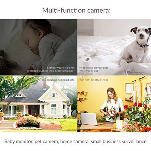Yi Home Camera Wireless IP Security Surveillance System HDR English Version - White