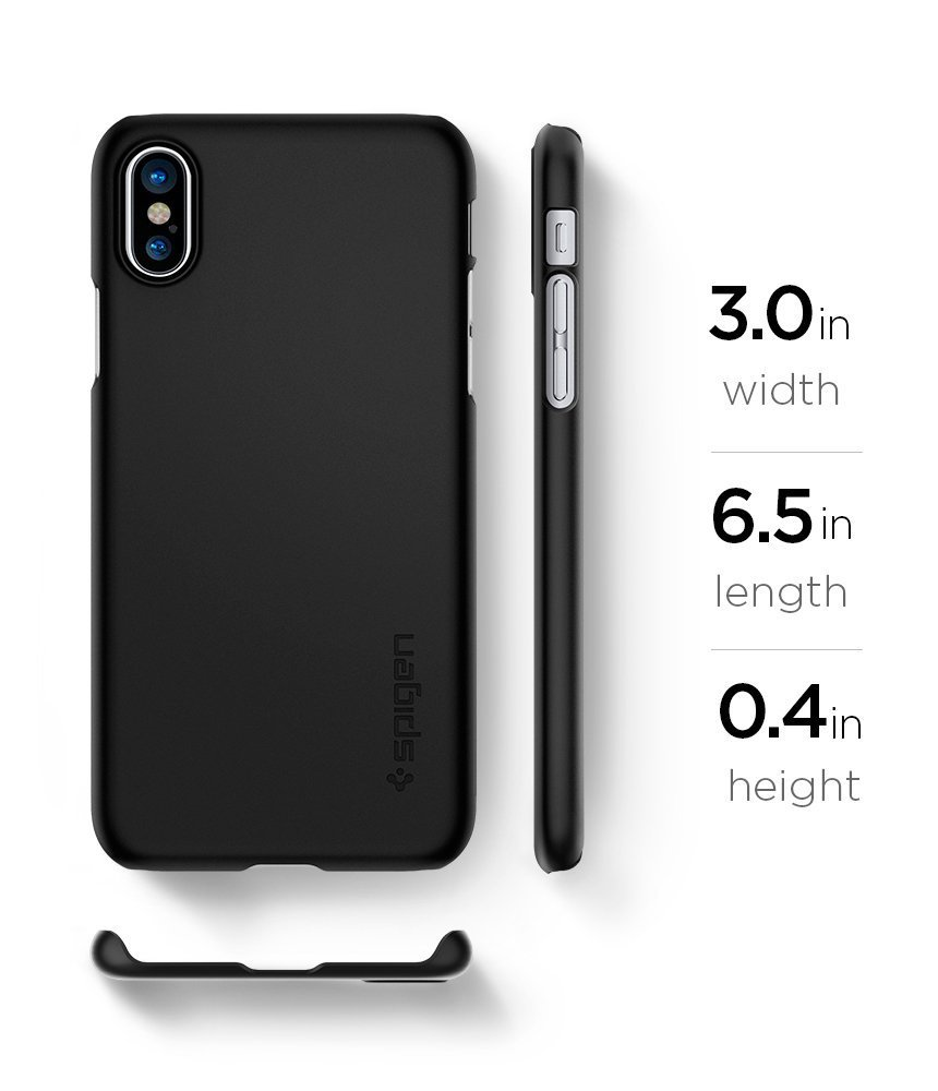 Apple iPhone X Spigen Original Thin Fit - Matte Black