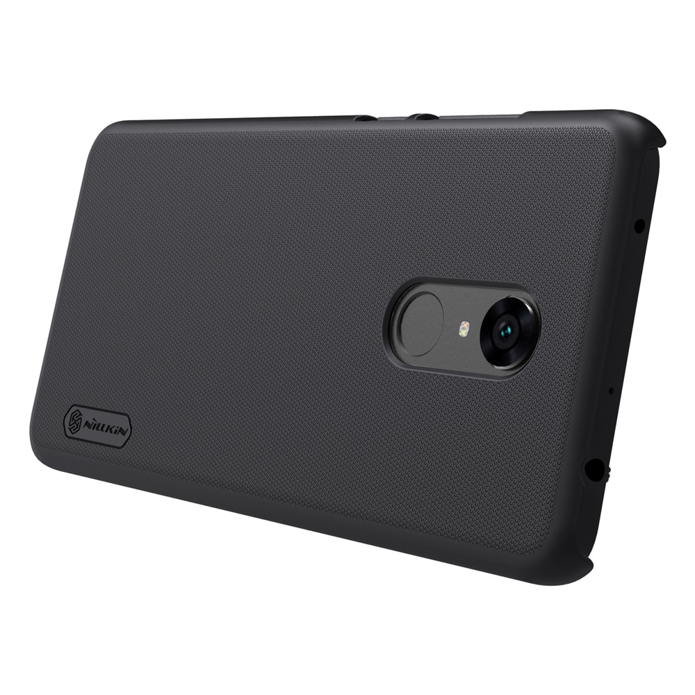 Redmi 5 Plus Frosted Shield Hard Back Cover by Nillkin - Black