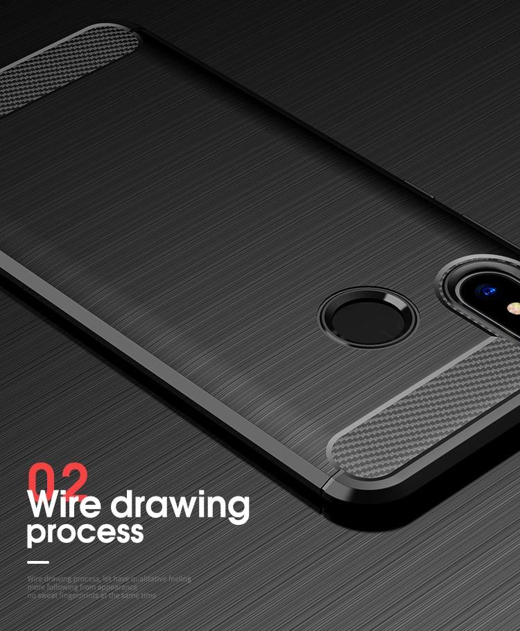 Mi 8 Concise Series / Slim Anti-fingerprint TPU Case by iPaky - Blue