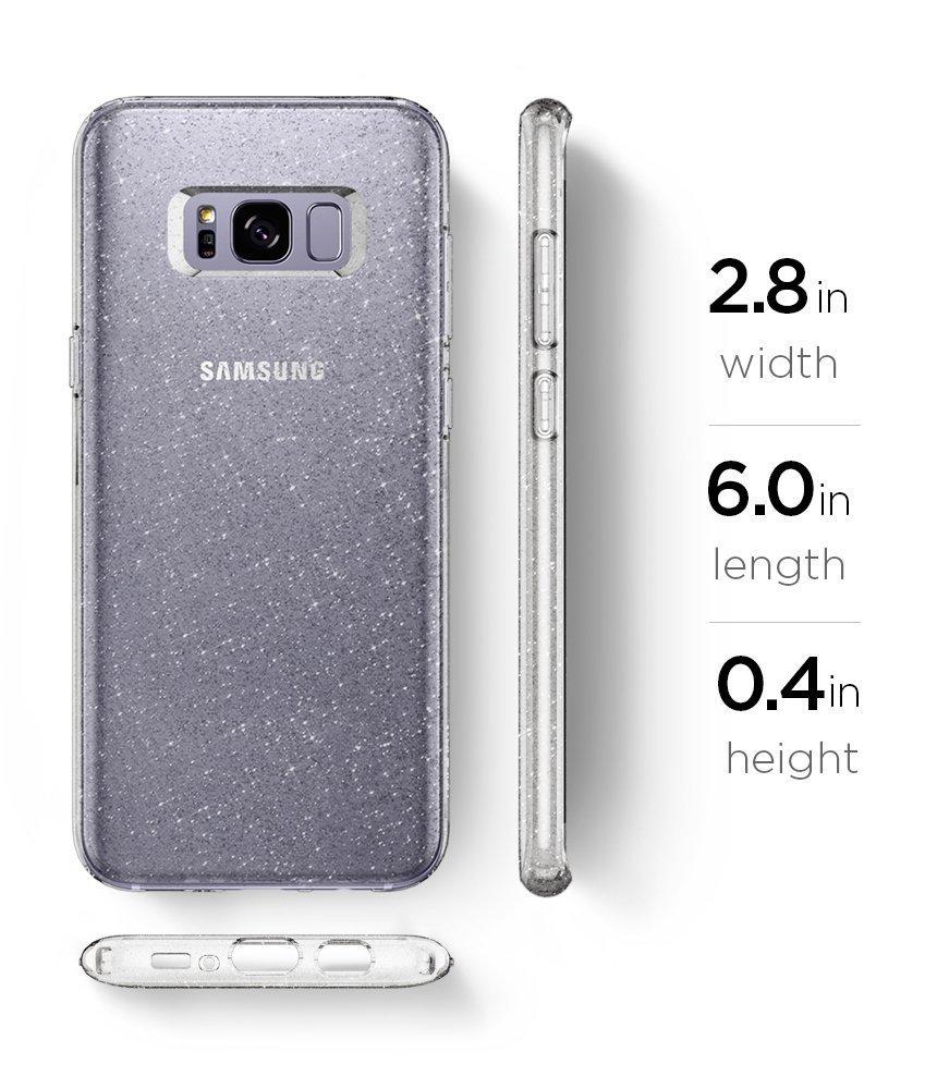 Galaxy S8 Spigen Liquid Crystal Glitter Case - Crystal Quartz