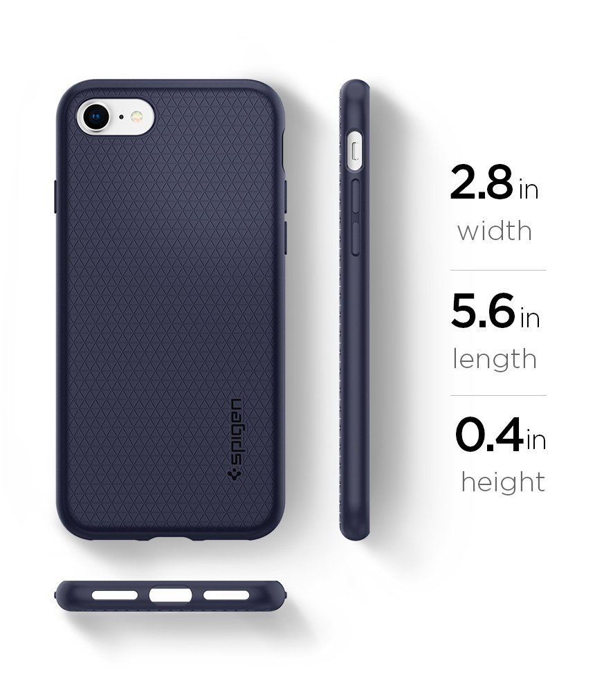 Apple iPhone 8 / iPhone 7 Spigen Liquid Air Case - Midnight Blue