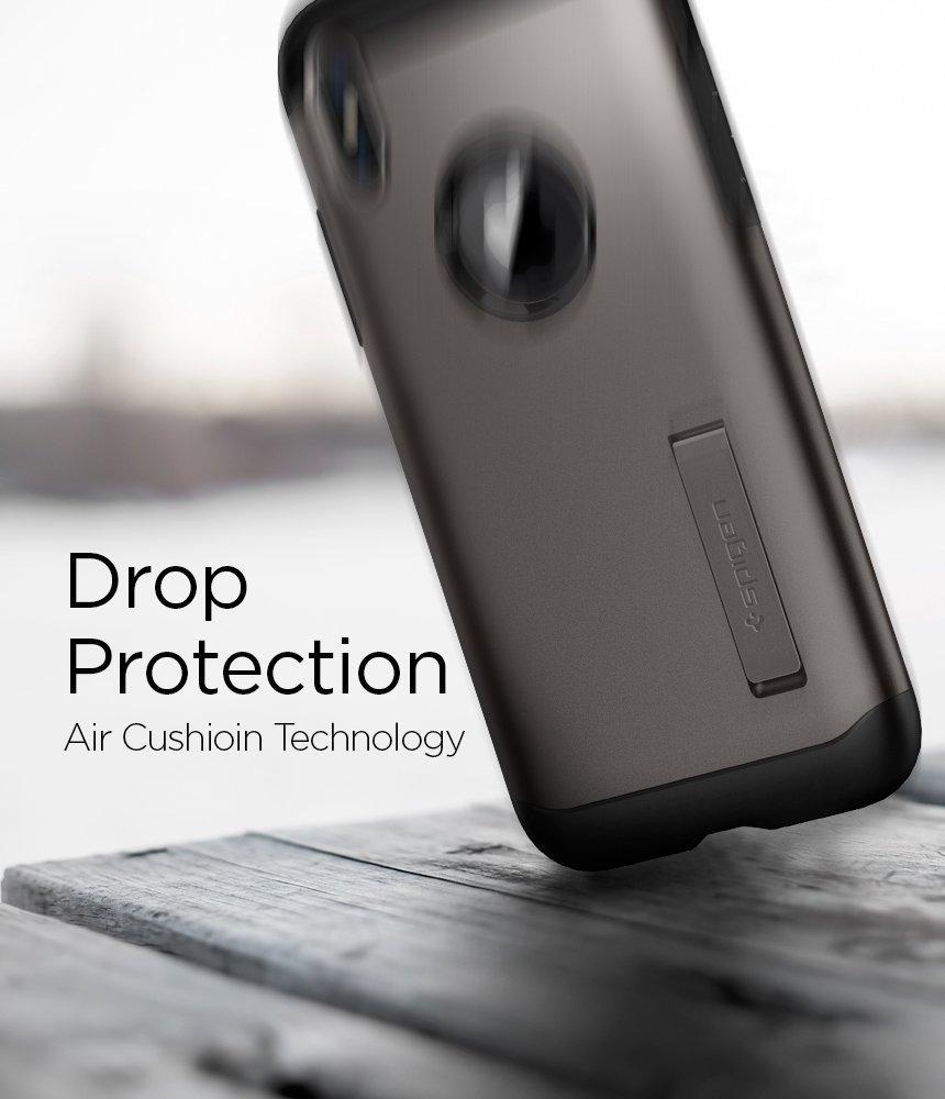 Apple iPhone X Spigen Slim Armor Case Gunmetal