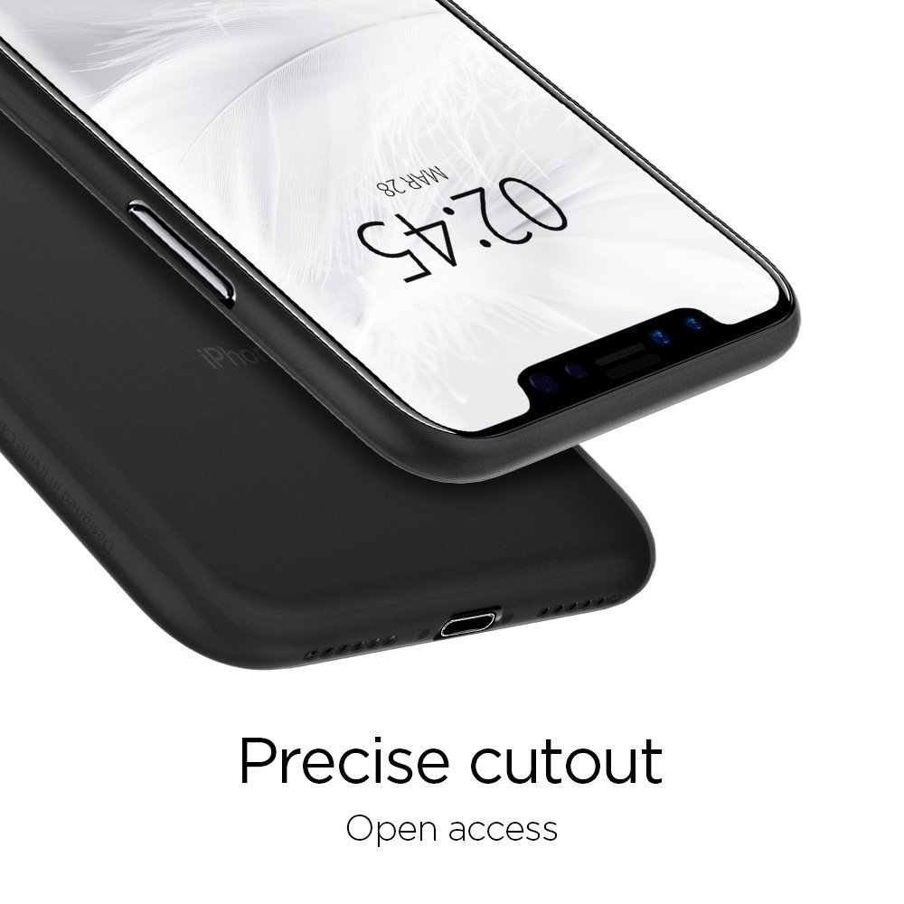 Apple iPhone XS / iPhone X Spigen Original Air Skin - Black