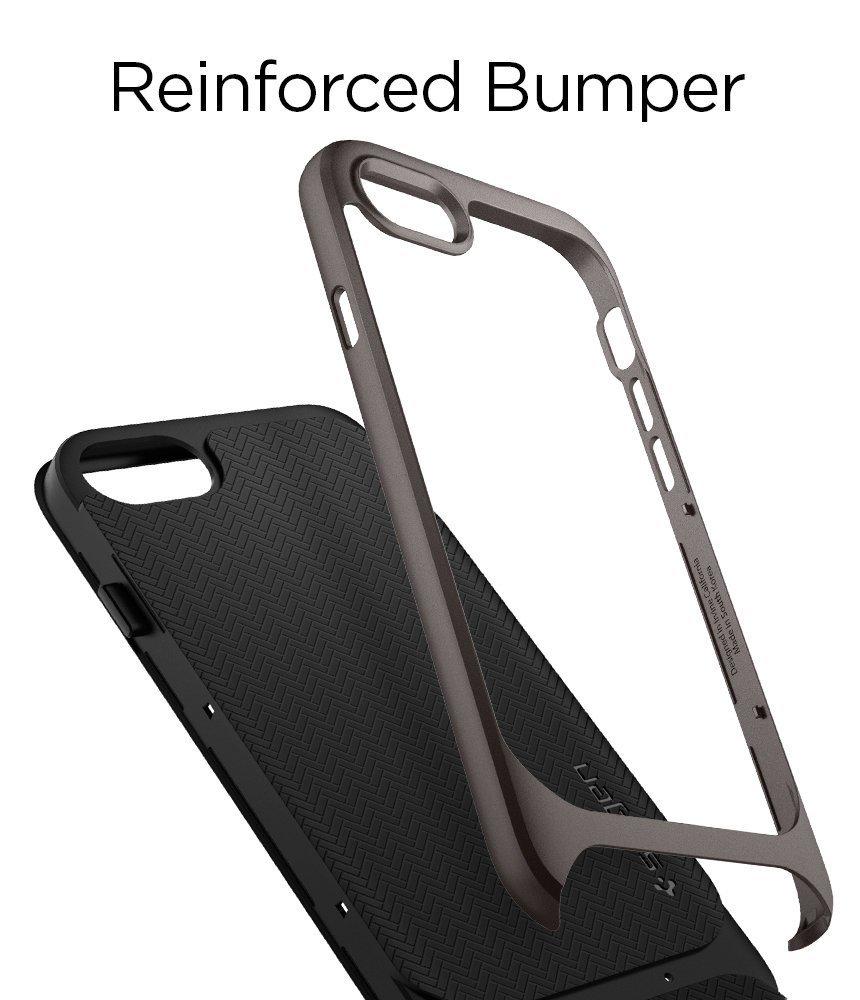 Apple iPhone 8 / 7 Original Spigen Case Neo Hybrid Herringbone - Gunmetal