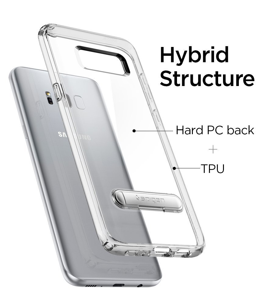 Samsung Galaxy S8 Plus Spigen Ultra Hybrid S Case - Crystal Clear