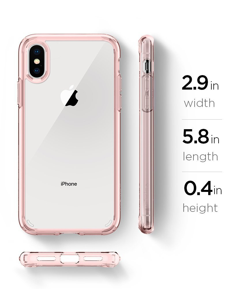 Apple iPhone XS / iPhone X Original Spigen Case Ultra Hybrid - Rose Crystal