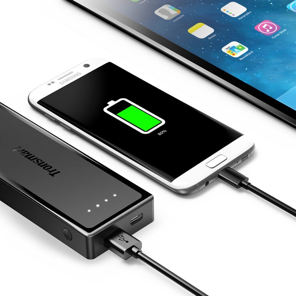 Tronsmart Micro USB Cable Pack - 5 Cable Pack MUPP6 - Black (1ft x 1,3.3ft x 3,6ft x 1)