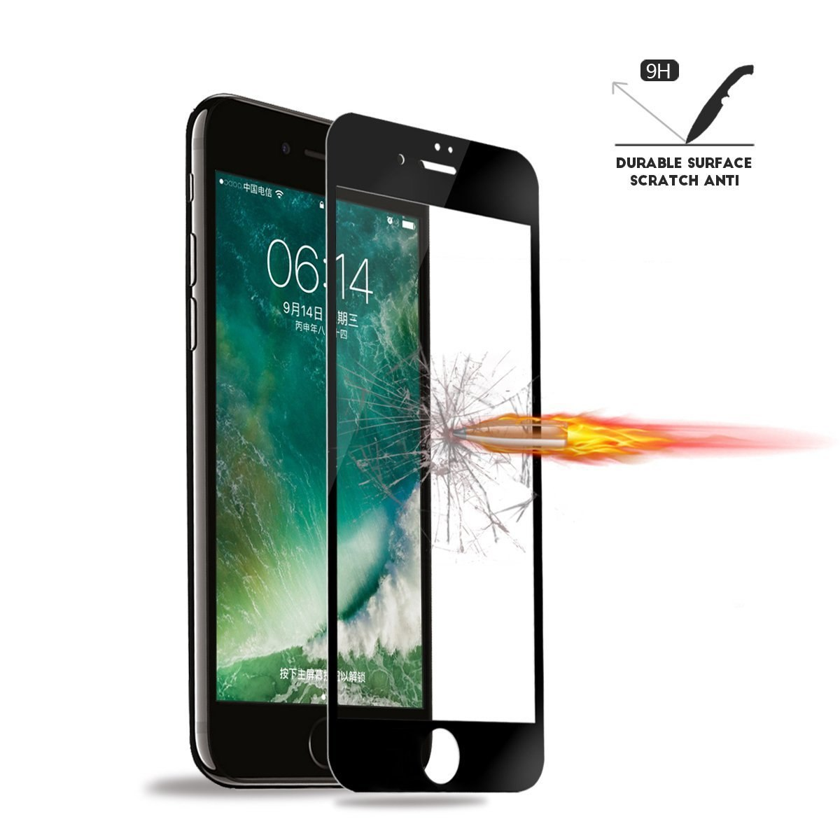 Mocolo iPhone 7 Edge to Edge Tempered Glass - Black