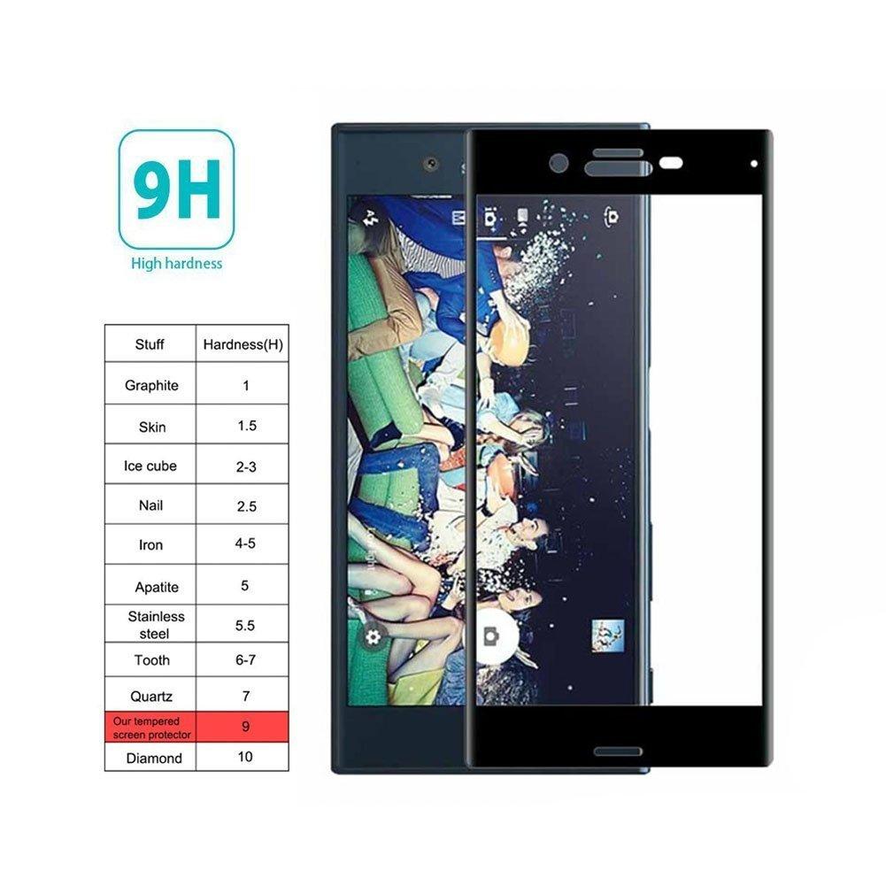 Mocolo Sony Xperia XZ Edge to Edge Tempered Glass - Black