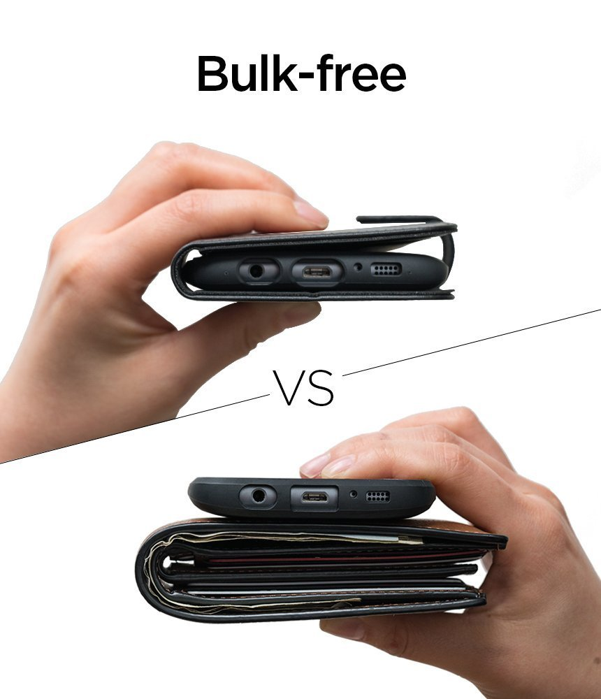 Samsung Galaxy S8 Plus Spigen Wallet S Flip Cover Case - Matte Black