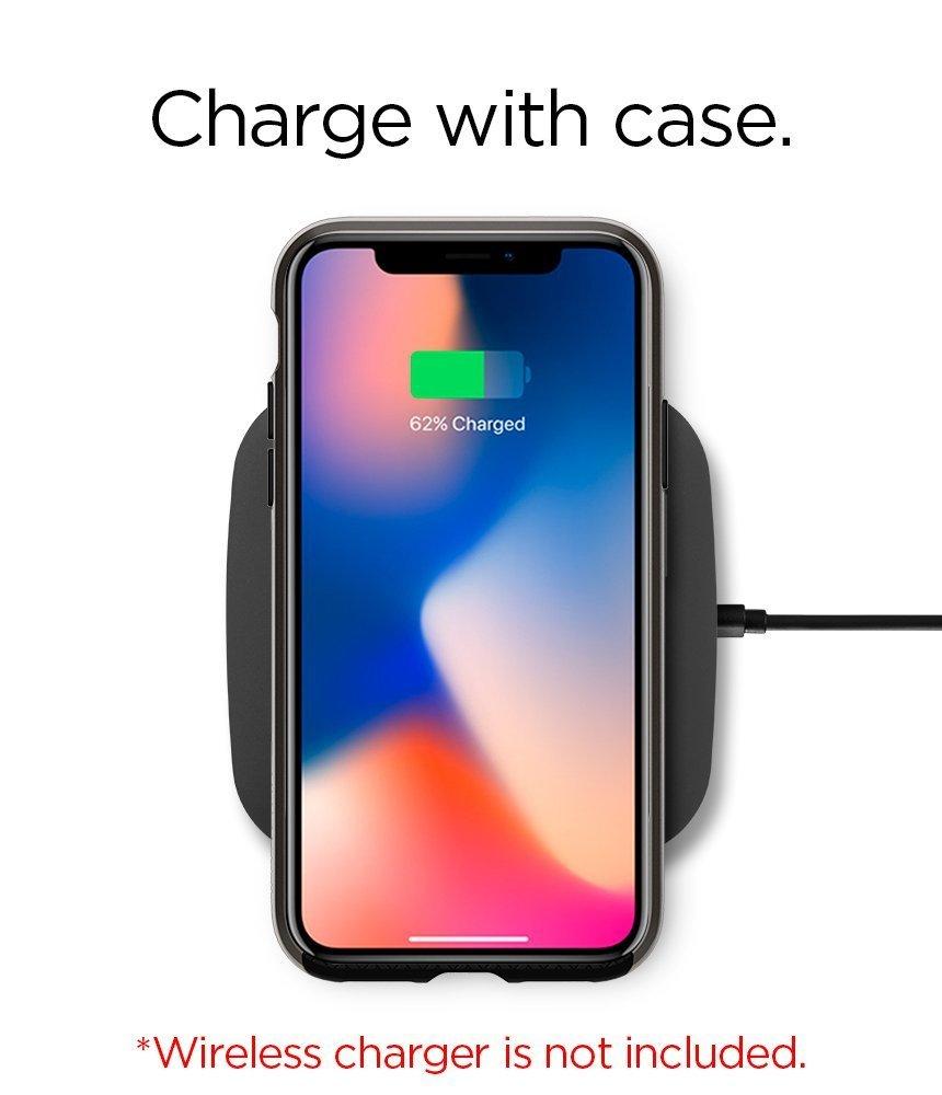 Apple iPhone X Original Spigen Case Neo Hybrid - Jet Black
