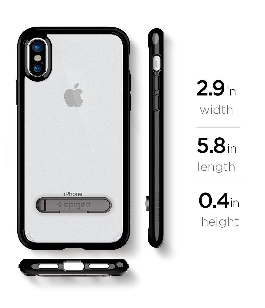 Apple iPhone X Spigen Ultra Hybrid S Case - Midnight Black
