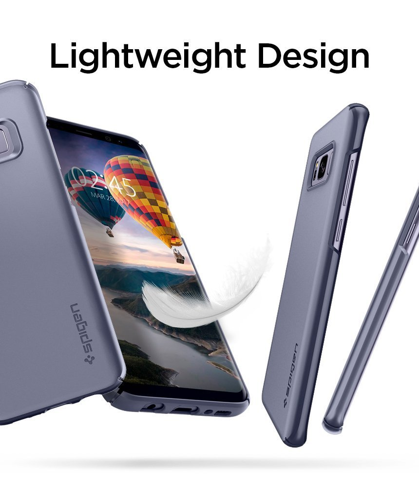 Samsung Galaxy S8 Plus Spigen Original Thin Fit Case - Orchid Gray