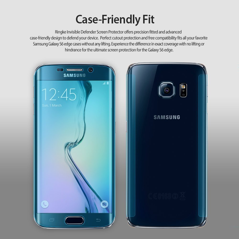 Ringke Invisible Defender Samsung Galaxy S6 Edge Edge to Edge Coverage Case Friendly Protector