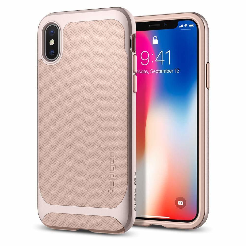 Apple iPhone X Original Spigen Case Neo Hybrid - Pale Dogwood