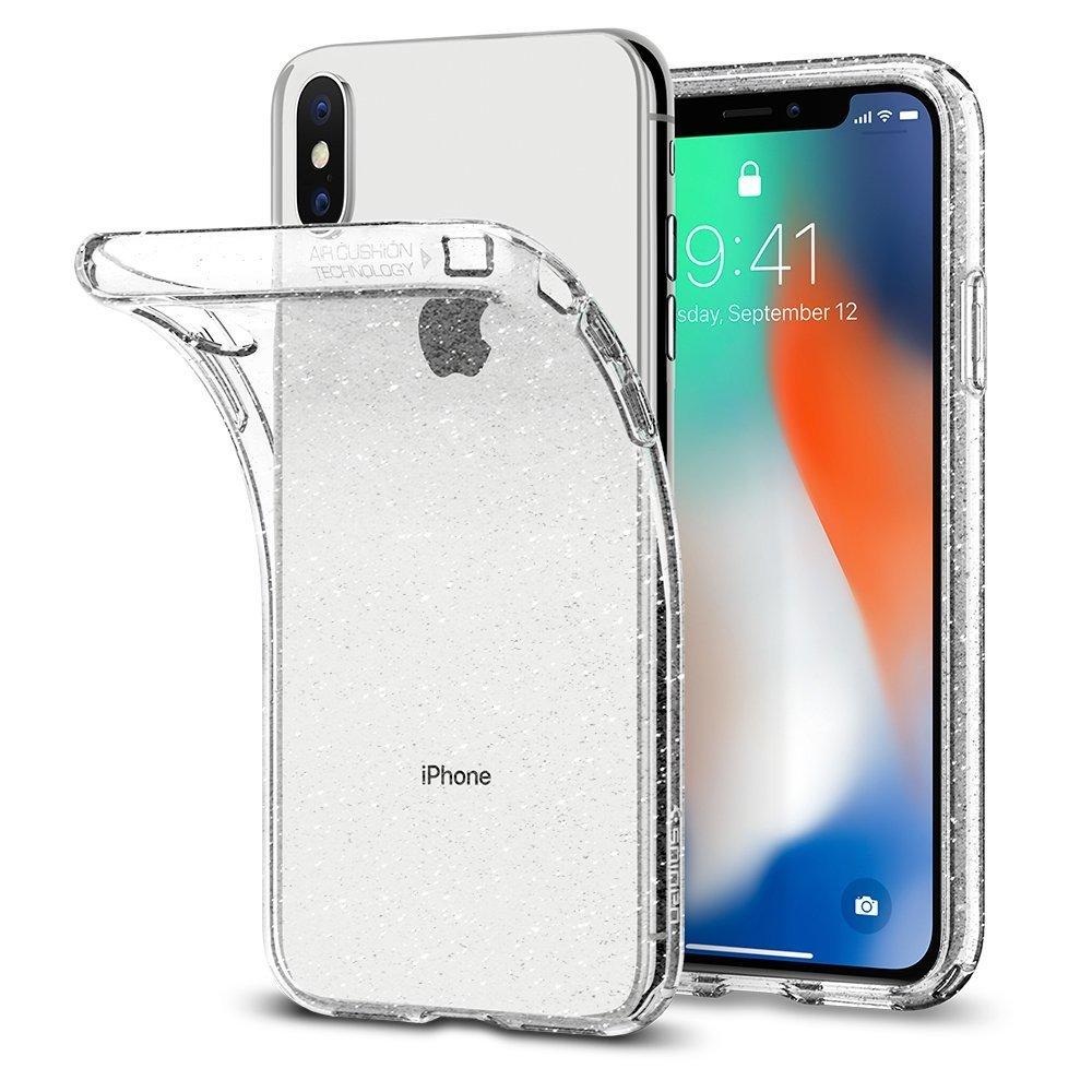 Apple iPhone X Spigen Liquid Crystal Glitter Case - Crystal Quartz