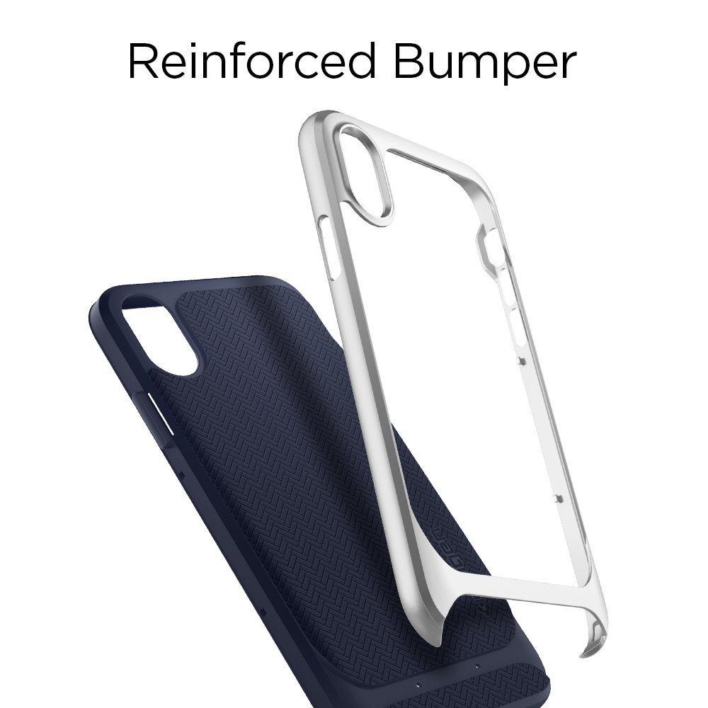 Apple iPhone X Original Spigen Case Neo Hybrid - Satin Silver