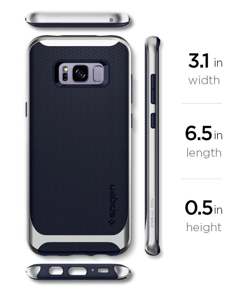 Galaxy S8 Spigen Neo Hybrid Dual Layer Case - Arctic Silver