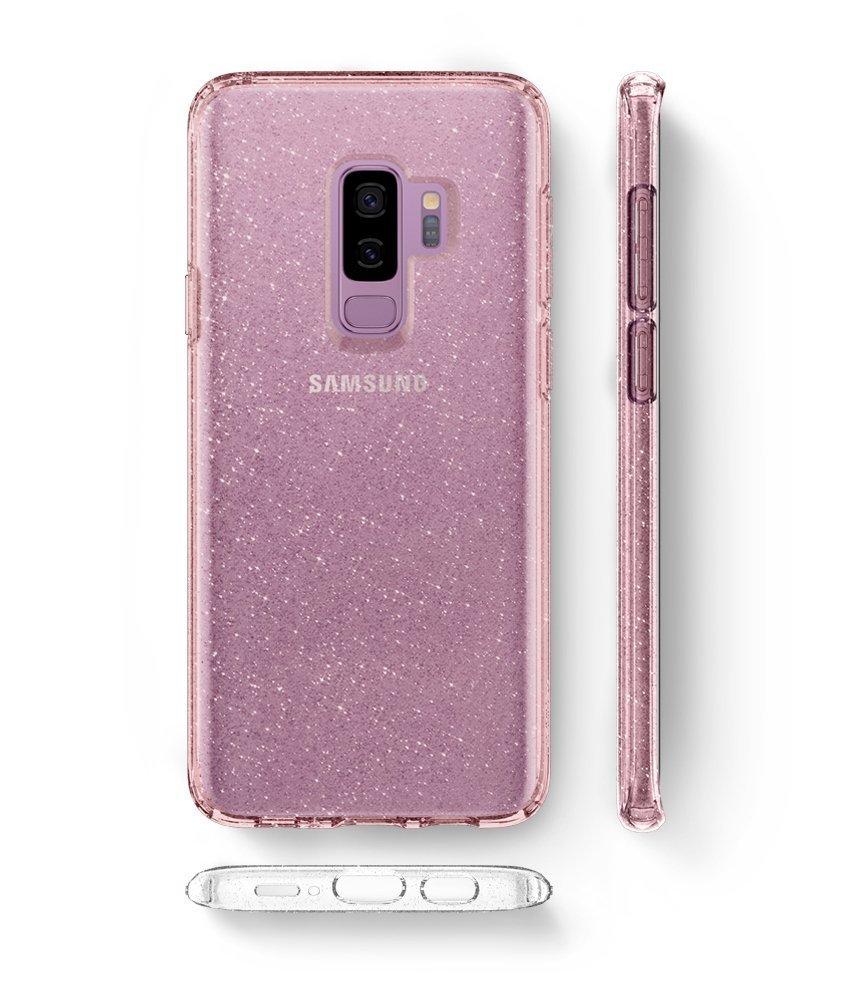 Galaxy S9 Plus Spigen Liquid Crystal Glitter Case - Rose Quartz