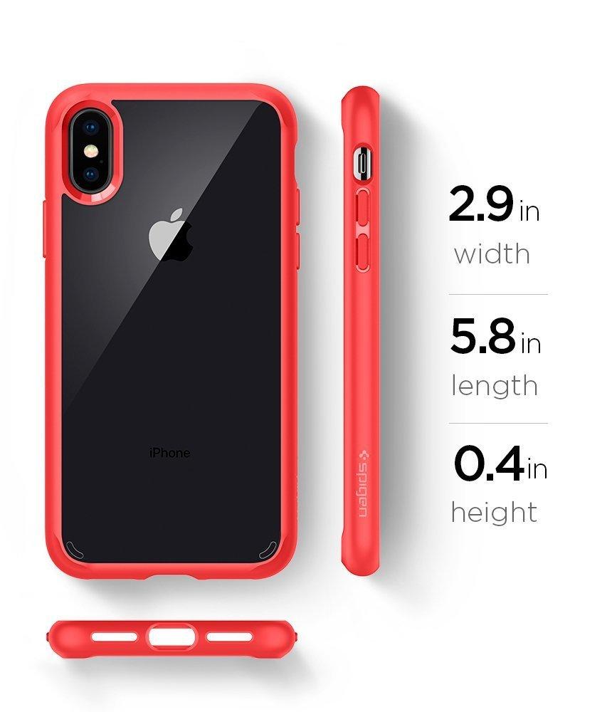Apple iPhone XS / iPhone X Original Spigen Case Ultra Hybrid - Red