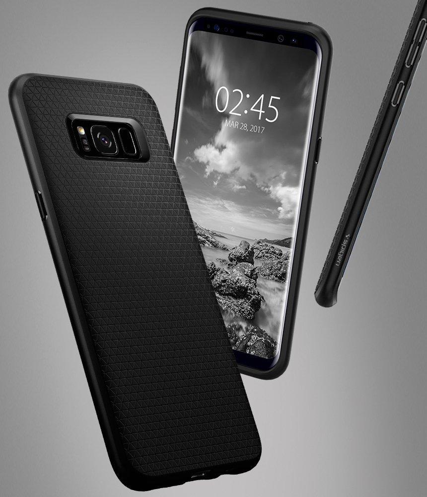 Samsung Galaxy S8 Spigen Liquid Air Case - Black