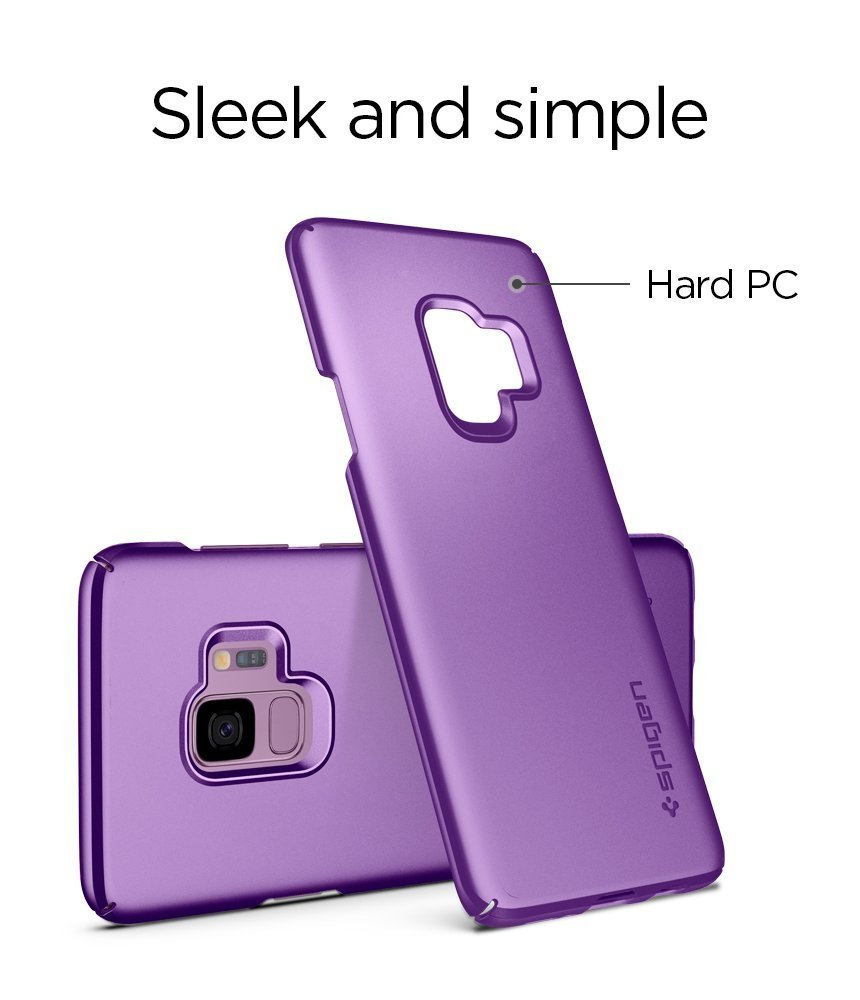 Samsung Galaxy S9 Spigen Original Thin Fit Case - Lilac Purple