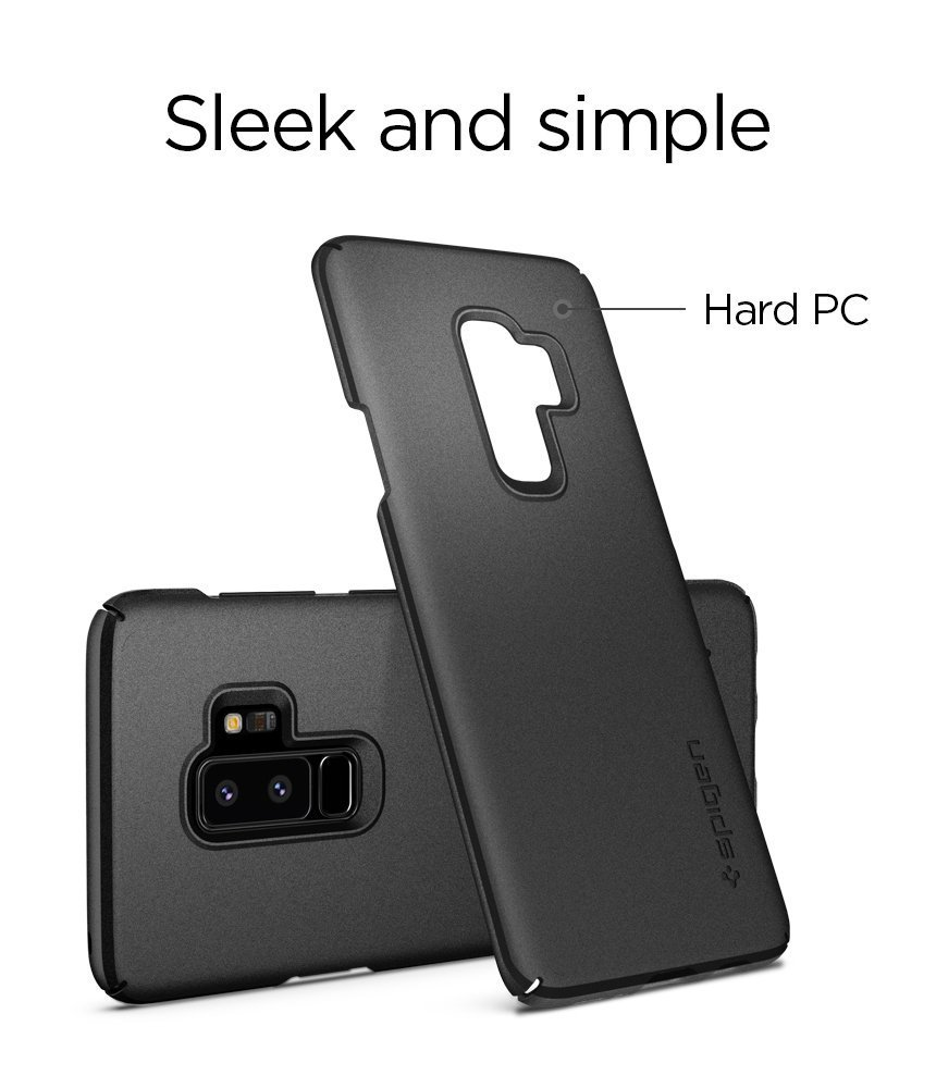 Samsung Galaxy S9 Plus Spigen Original Thin Fit Case - Graphite Gray