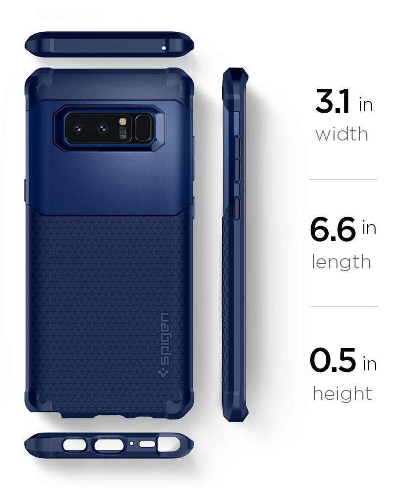 Galaxy Note 8 Spigen Hybrid Armor Case - Deep Sea Blue