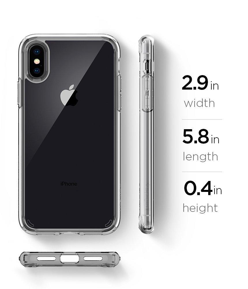 Apple iPhone XS / iPhone X Original Spigen Case Ultra Hybrid - Crystal Clear