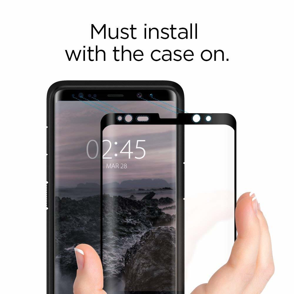 Galaxy Note 8 Spigen GLASTr 3D Curved Case Friendly Curved Tempered Glass