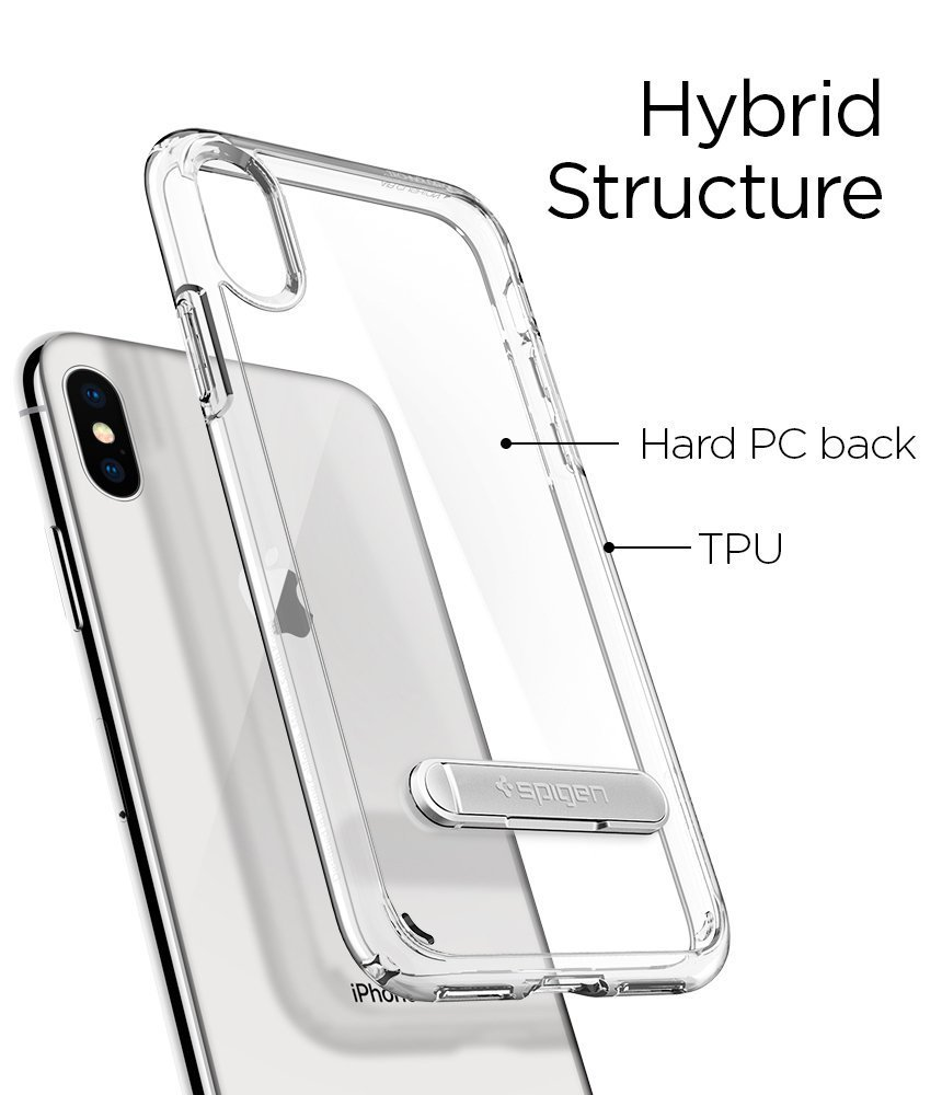 Apple iPhone X Spigen Ultra Hybrid S Case - Crystal Clear