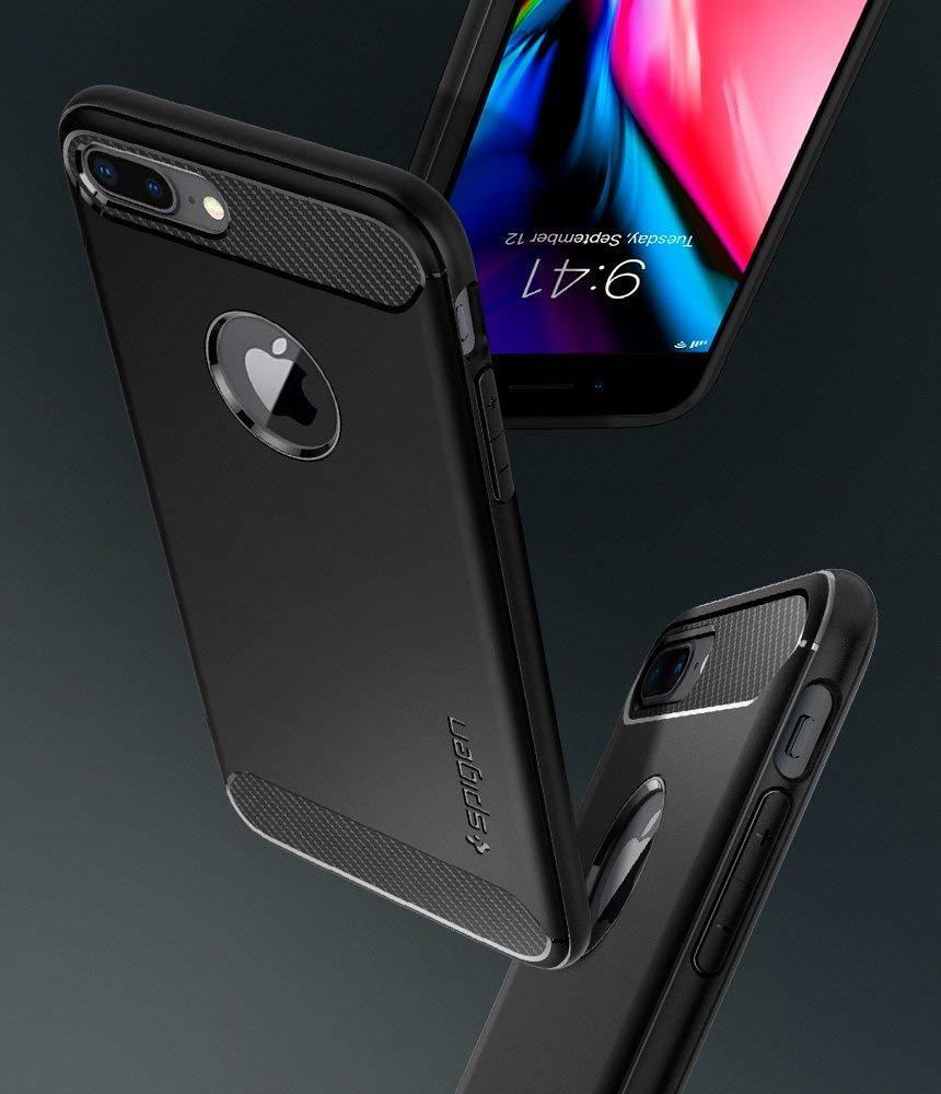 Apple iPhone 7 Plus / 8 Plus Spigen Rugged Armor Case - Black
