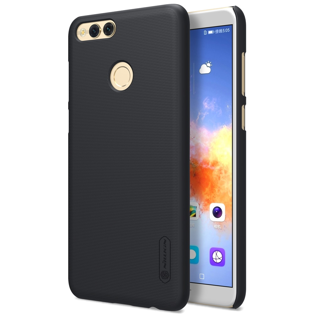 Huawei Honor 7X Frosted Shield Hard Back Cover by Nillkin - Black